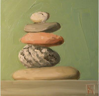 Kelley MacDonald's Daily Paintings: Cairn II, Oil, 6x6: Paintings Rocks, Daily Paintings, Rock Painting, Oil, Rocks Paintings