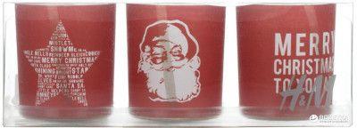 Набор свечей H&M 171049 3 шт х 6 см Красный (7788000000007)