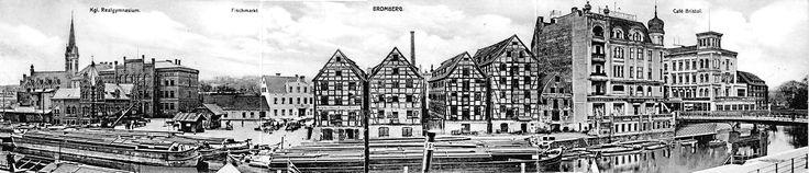 Spichrze nad Brdą - Muzeum Okręgowe im. Leona Wyczółkowskiego, Bydgoszcz - 1909 rok, stare zdjęcia