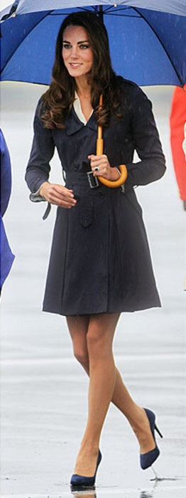 Catherine Middleton, Duchess of Cambridge, keeping chic in the rain