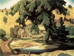 Franklin Carmichael (May 4, 1890 – October 24, 1945) was a Canadian artist. He was the youngest original member of the Group of Seven. Farm, Haliburton.