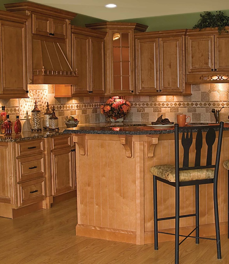 Oak Cabinets And Granite Kitchens Pinterest Granite Kitchens And House