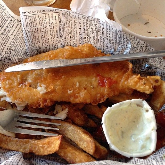Check Out Mac\'s Fish and Chips in Santa Barbara, CA as seen on Diners, Drive-ins and Dives and featured on TVFoodMaps. Known for the authentic British fish 'n chips joint known for keepin' it real - from the haggis to the toad in the hole