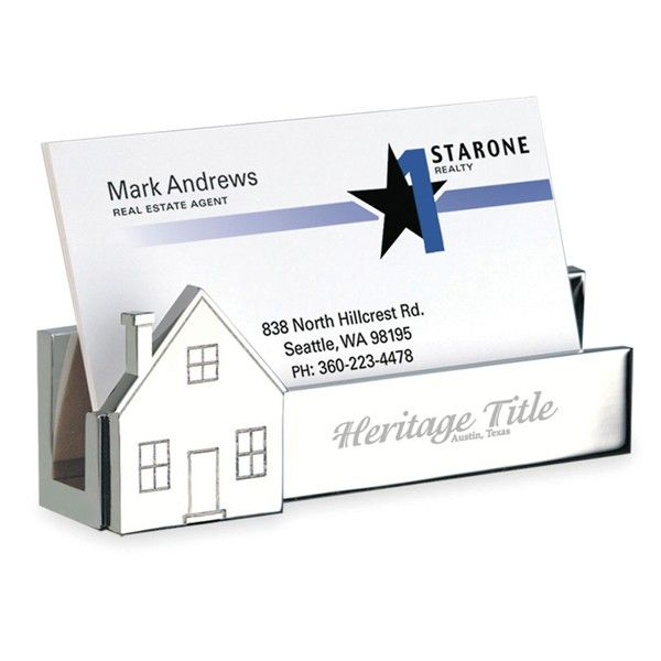29 best real estate business card holder images on pinterest real estate promo products namesake house holder business card holder with dimensional house molded colourmoves