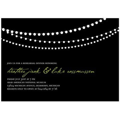 Trendy Light Show -- Rehearsal Dinner Party Invitations