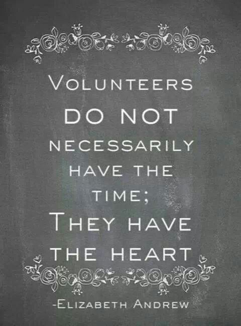 So grateful for all of our volunteers!