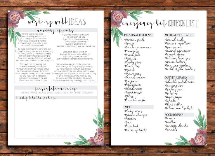Cathartic Malarkey Floral Wedding Planner. Digital download printable.
