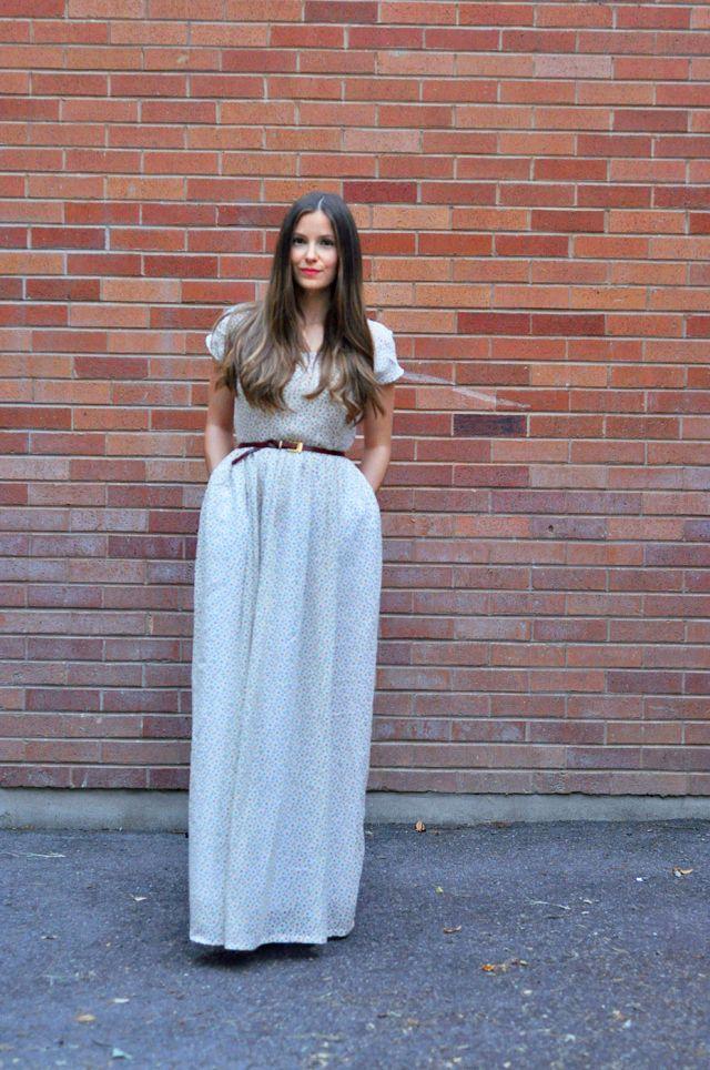 maxi-dress with elastic waist band