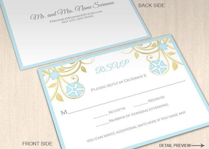 Más de 25 ideas fantásticas sobre Pastel Wedding Reply Cards en - postcard template for word
