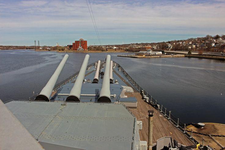 USS Massachusetts forward turrets by Brit31.deviantart.com on @DeviantArt
