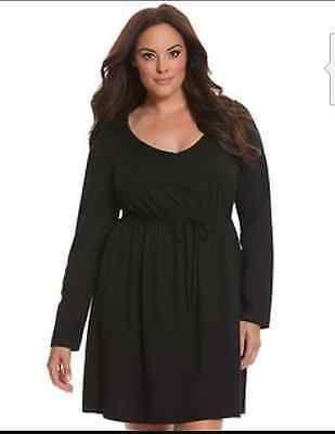 Lane BRYANT Cacique Plus Cinched Waist Sleep Dress Size 26/28 Sleepwear Night
