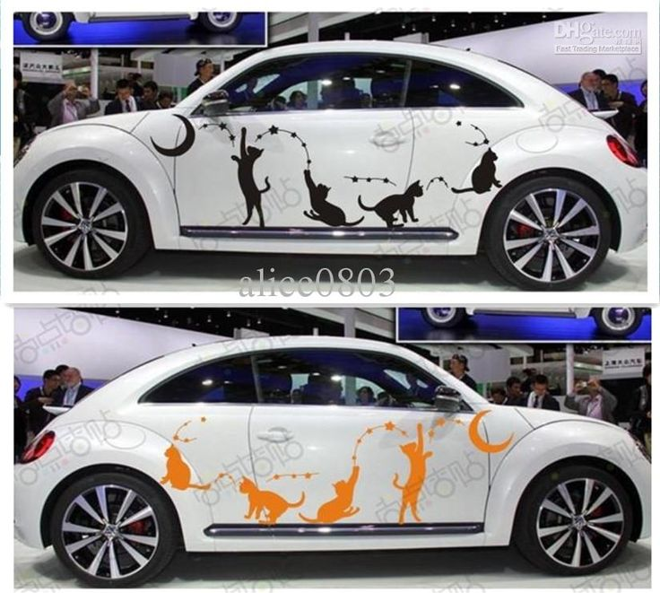 Funning cat high quality car stickers accessoriesequalizer el car body stickerauto decals