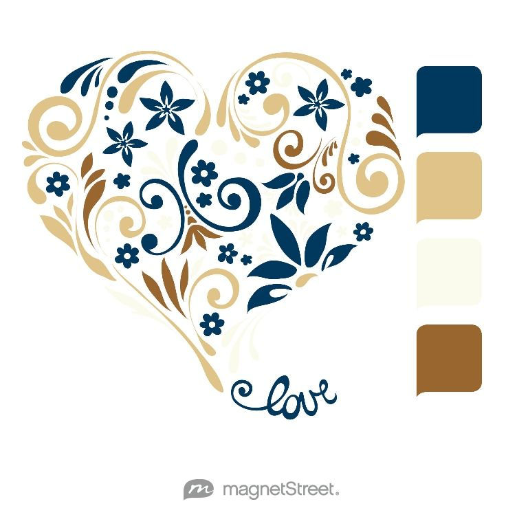 Navy Gold Ivory And Bronze Wedding Color Palette Free