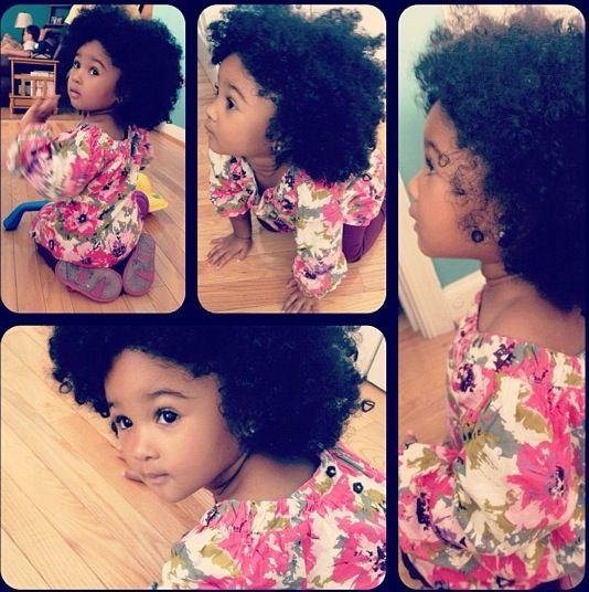 Natural curly hair baby sooooooooo freaking cuteeeeeeeeeeeeeeeeeee!!!! shes perfect!!!