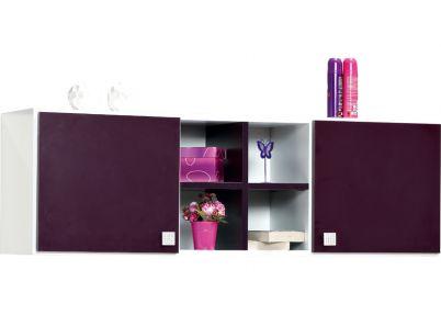 Wandmeubels voor Pretty  paarse kinderkamer | Ladekastjes en nachtkastjes
