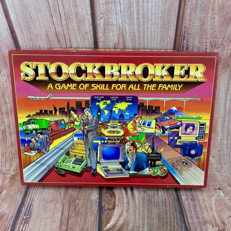 Vintage Board Games Stockbroker Family Fun Gift Present 🎁 COMPLETE VERY RARE