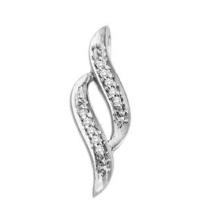 MIORE Damen-Anhänger 9 Karat (375) Weißgold Brillanten MCJ908P - http://www.wonderfulworldofjewelry.com/jewelry/necklaces/miore-damenanhnger-9-karat-375-weigold-brillanten-mcj908p-de/ - Your First Choice for Jewelry and Jewellery Accessories