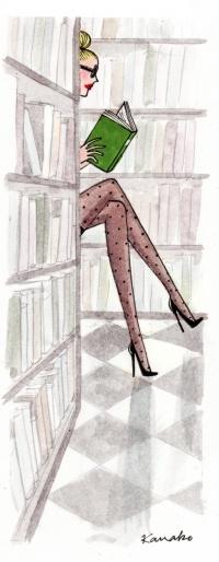 woman in read