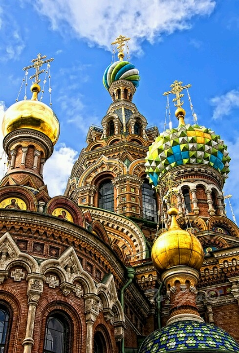 St. Petersberg,  Russia.  Church of the savior on spilled blood.