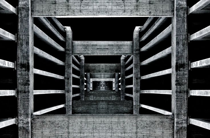 Depth Perception - This picture is actually a bridge made of concrete. By using crop and rotate, I made the other half mirroring itself horizontally.