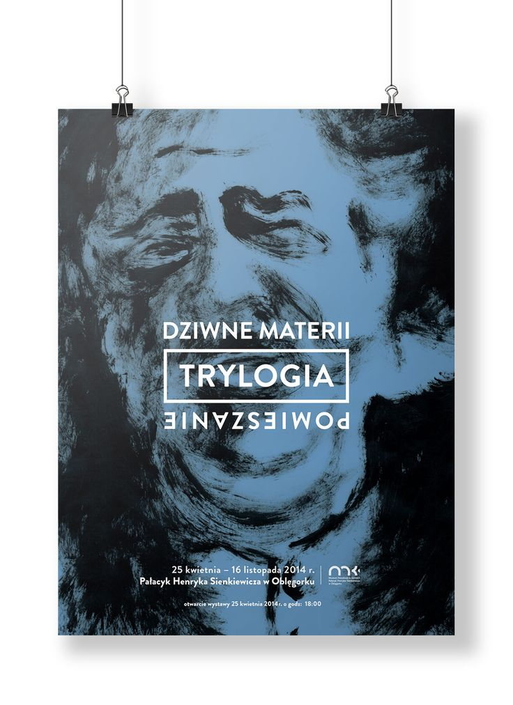 """H. Sienkiewicz """"Trylogy"""" exhibition poster"""