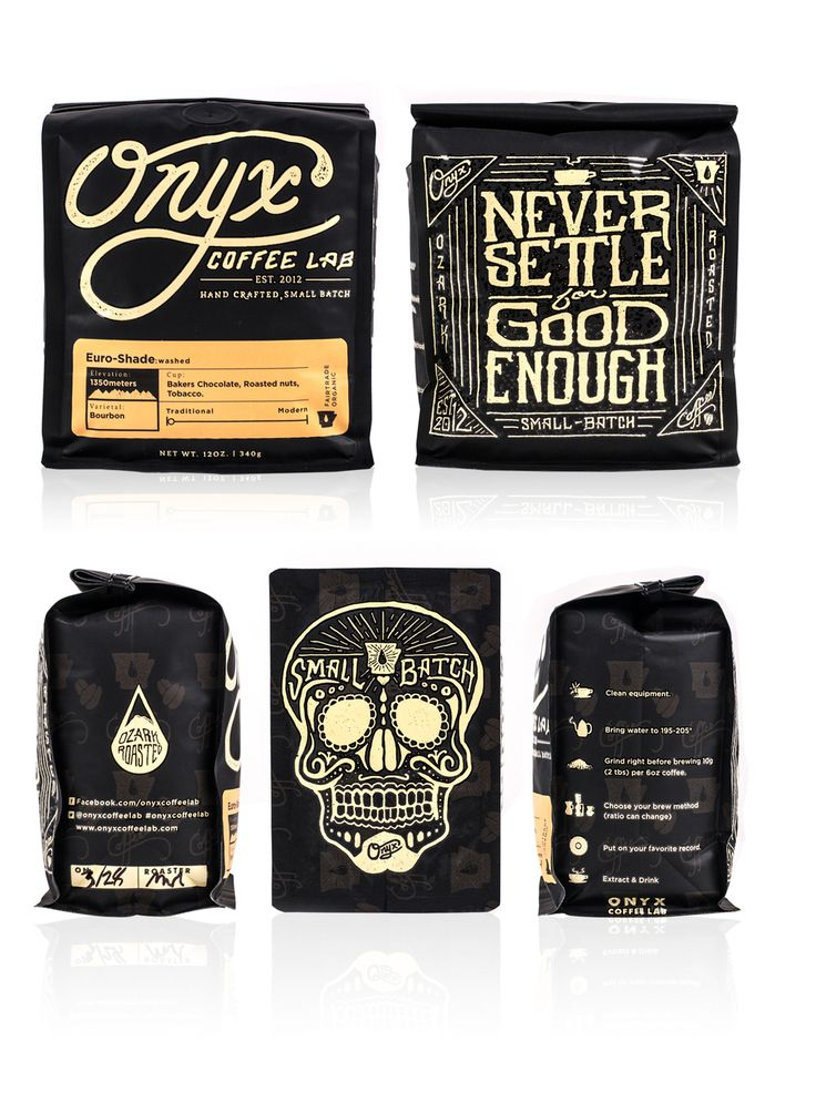 Awesome Onyx coffee packaging from all sides PD