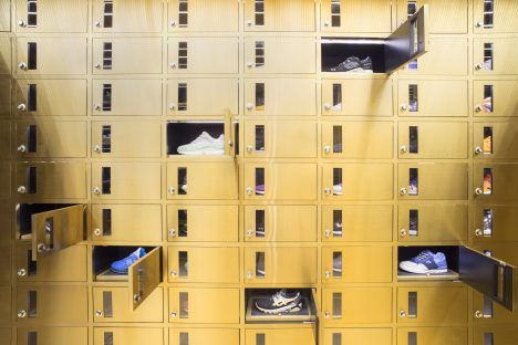 Asked to create an interior that exudes luxury, Barcelona studio External Reference designed a shoe store that looks more like a bank vault.