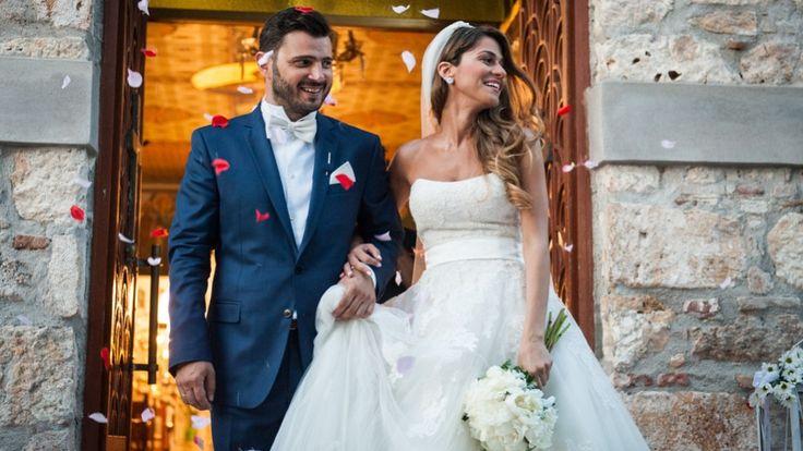Φωτογραφία γάμου με τους νεόνυμφους