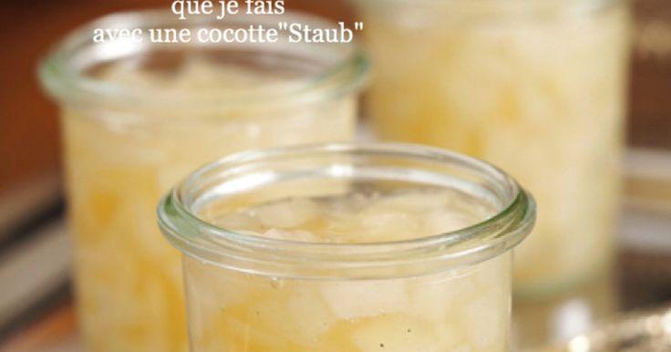ストウブ鍋を使用して簡単すぐ出来る『梨のジャム』です♡ 梨の食感と白い色を残す為に私なり工夫も… 本当にとっても美味しい