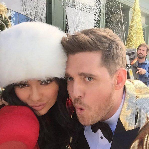 Pin for Later: Elles Font Quoi les Stars Pour Célébrer Noël? Michael Bublé et Kylie Jenner