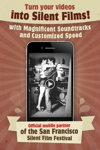 Silent Film Director. In a matter of clicks you'll transform videos into magnificent vintage with your choice of music, speed and video effects.     VIDEO EFFECTS:  ★ 20's movie   ★ 60's home video (viva Hippie style!;)   ★ 70's home video   ★ Black and White   ★ Sepia   ★ Vintage Sepia    AWESOME SOUNDTRACKS:   ★ 9 Built-in soundtracks  ★ Create movie keeping the original sound  ★ Upload Music from iPod   and more    This app is normally $.99, but you can occasionally find it marked as…