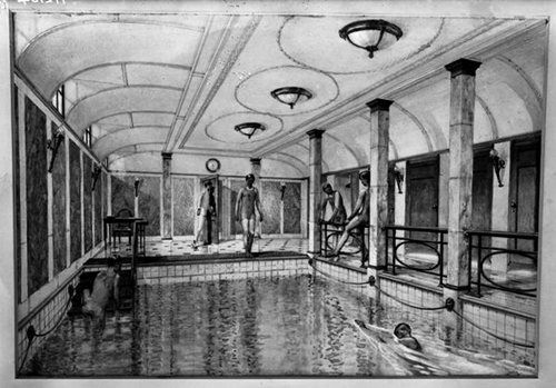 Swimming pool for the first class titanic pinterest Who was on the titanic in first class