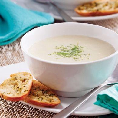 Crème de fenouil et céleri-rave - Entrées et soupes - Recettes 5-15 - Recettes express 5/15 - Pratico Pratique