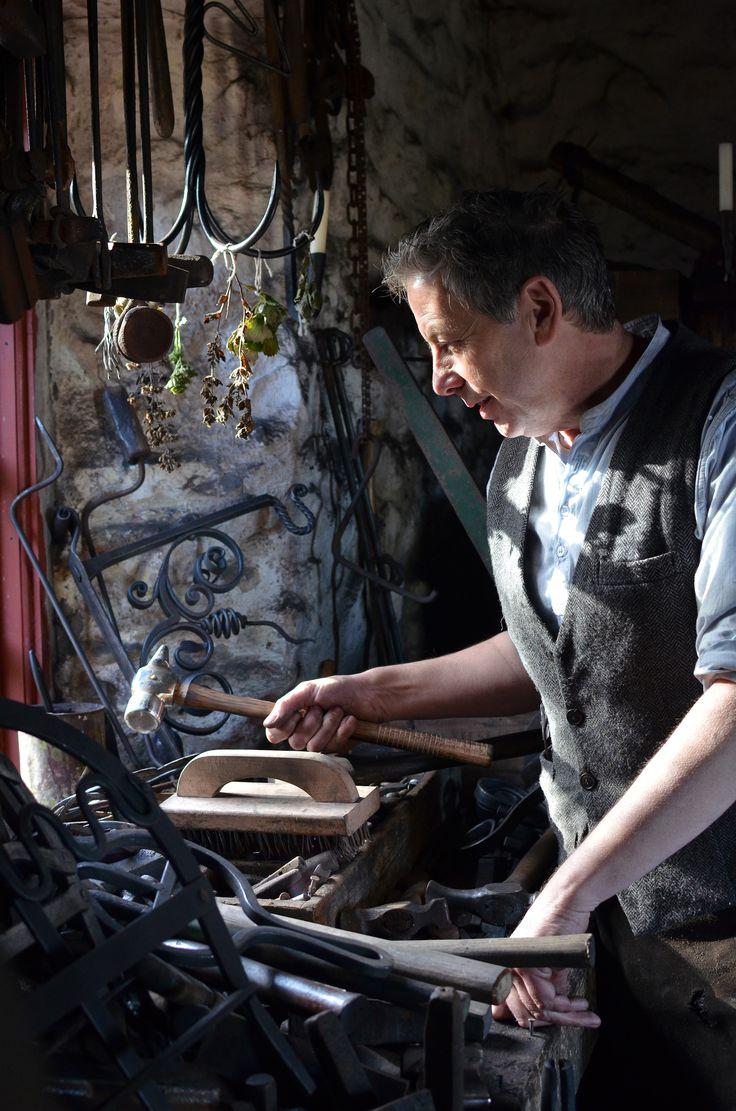 A blacksmith at work in Northern Ireland, taken by Philip Hutton.