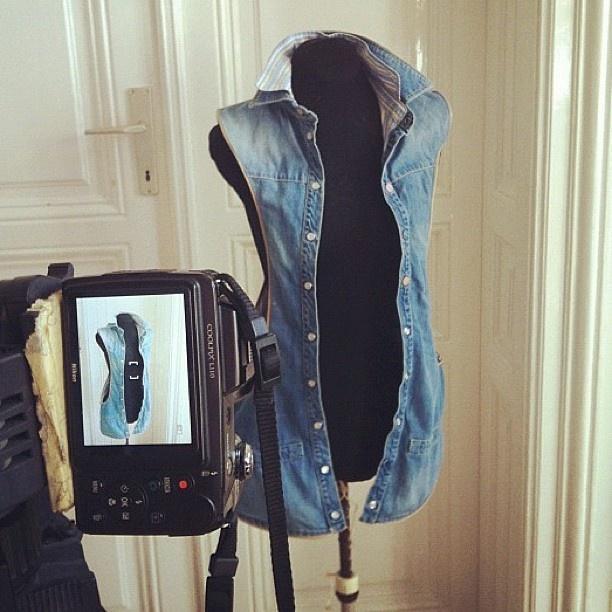 MRJ's Button Up Denim Hands-Free Bag
