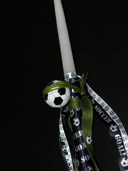 Greek Easter Candle Labada Soccer by pinelopiCreations on Etsy, $20.00