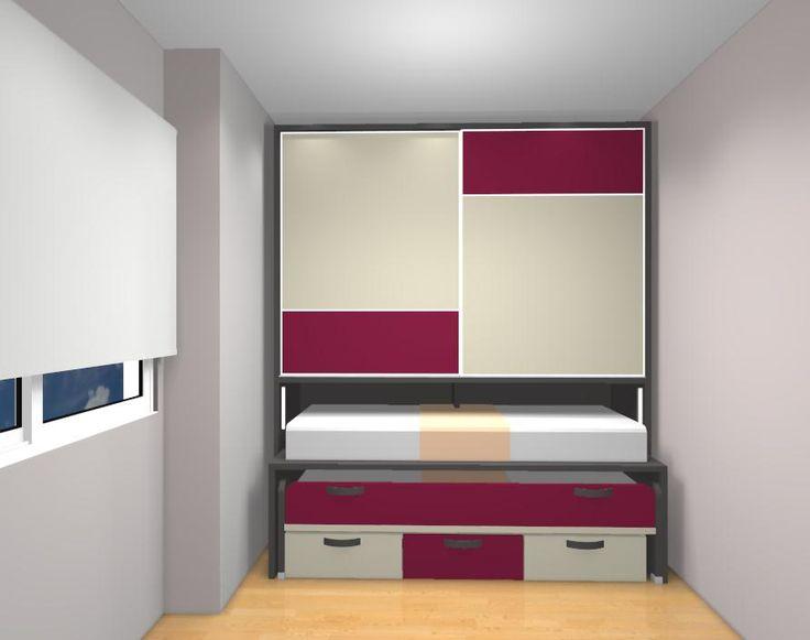 Dormitorios juveniles habitaciones infantiles y mueble - Habitaciones pequenas para ninas ...