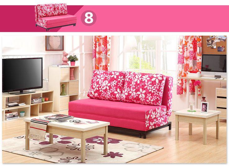 Светло-розовый диван с механизмом раскладывания https://lafred.ru/catalog/catalog/detail/22133627600/