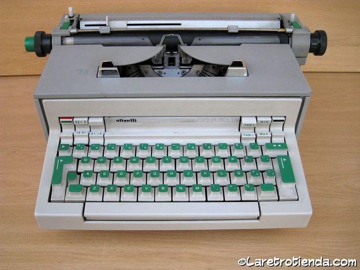 Green!! MAQUINA DE ESCRIBIR electrica - OLIVETTI IVREA PRAXIS 48 vintage & retro in Otros | eBay