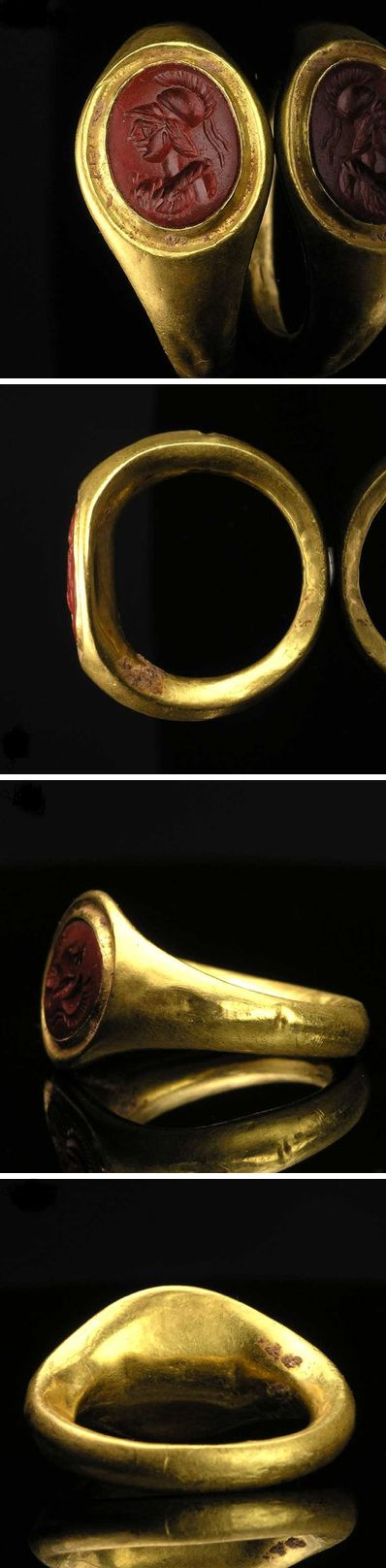 A fine Roman Signet Ring with Athena intaglio, ca 1st century AD