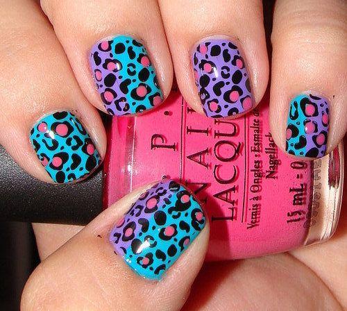 leopard nails: Cheetah, Leopard Print, Nail Polish, Nailart, Makeup, Nail Design, Nails, Nail Art