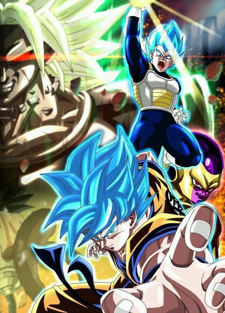 Broly Vs Goku Y Vegeta Dragon Ball Z Dragon Ball Anime Dragon Ball