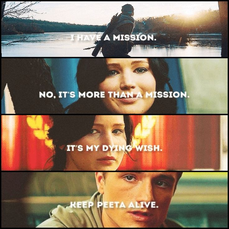 Katniss And Peeta Catching Fire Quotes Hunger Games Quote / C...