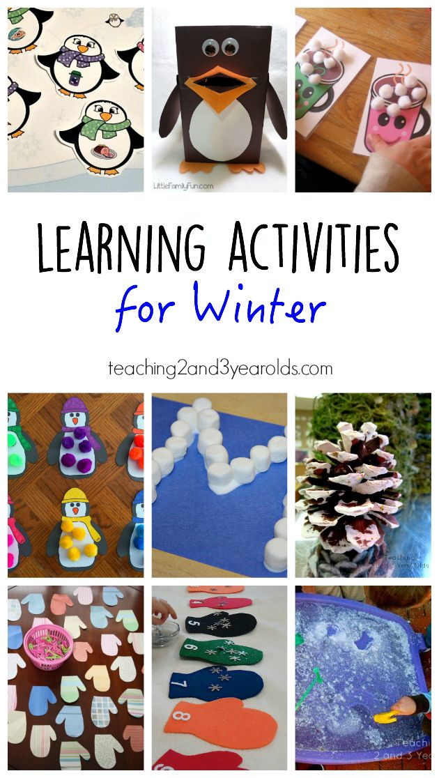 15 Winter Learning Activities For Preschoolers Teaching 2 And 3