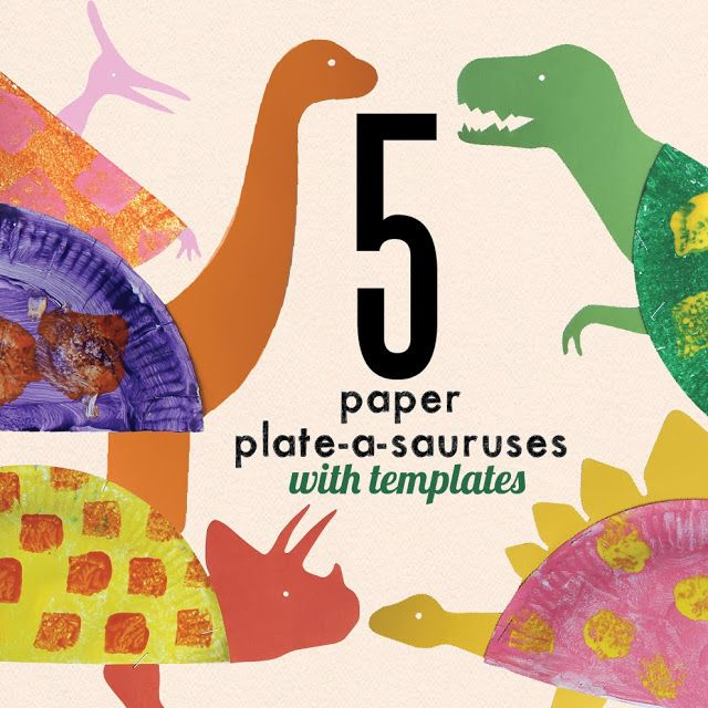 Children's Book Week 2014 - Paper Plate Dinosaur Craft (I'm a Dirty Dirty Dinosaur)
