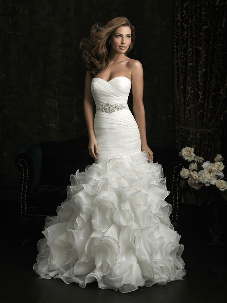 Wedding Gown I Wedding Dress I Allure Bridals (8966) A flattering fit and flare silhouette.
