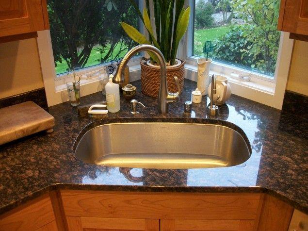 9 Best Corner Kitchen Sink Images On Pinterest  Bathroom Cabinets Best Cool Kitchen Sinks Design Decoration