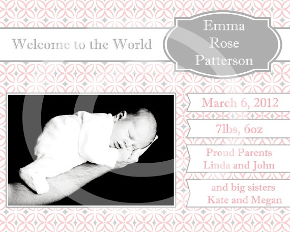 17 Best images about Photo Card Invitation Announcement – Costco Birth Announcements