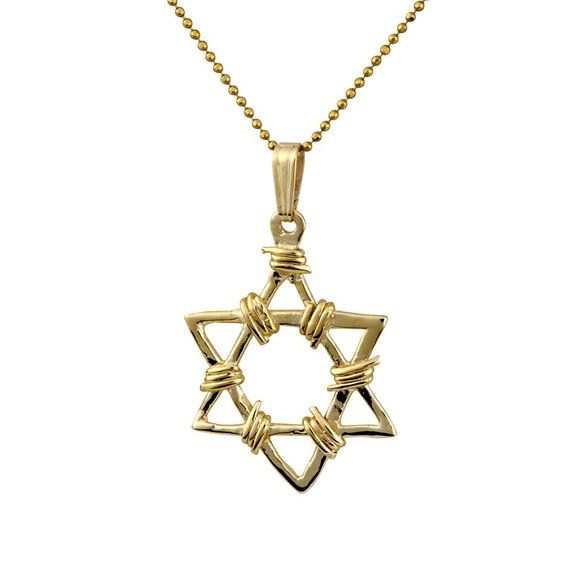 14k Yellow Gold Star Of David Necklace Bar Mitzvah Gift Etsy Yellow Gold Chain Judaica Jewelry Bar Necklace