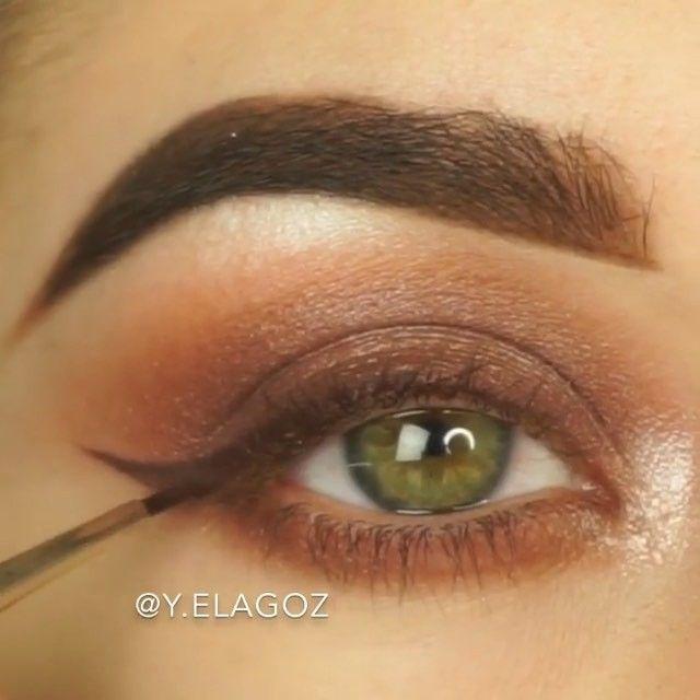 WEBSTA @ glamspire - 🎥 @y.elagoz 💛 #glamspire・・・Perfect makeup for fall 🍁🍂🍄Sonbahar önçesı mükemmel bir makyaj. 🍂 Eyes/Gözler🍂Makeup Details / Makyaj Detaylar 👇🍁Eyebrows/Kaş • @anastasiabeverlyhills dipbrow dark brown 🍁Eyeshadow/Göz farı • @makeupgeekcosmetics🍁Eyeliner • @thebalmeu liquid lipstick Trustworthy🍁Lashes/Kirpikler • @mywunderbrow wunderexstensions mascara